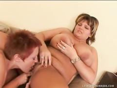 Dykey BBW sluts enjoy uncontrollable gushing orgasm