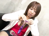Horny Asian glam whore Aya enjoys pussy fingering