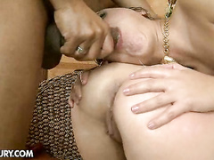 Dirty interracial anal party with lots of filth