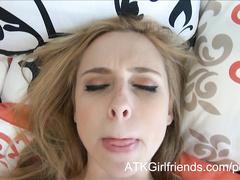 Perfect cock sucker Taylor Whyte gets POV facial