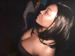 Freaky ebony hottie goes dirty and wild in the club