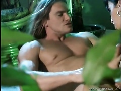 Sexy porn stars Jewel Denyle sucking him wildly on the floor waiting to get fucked