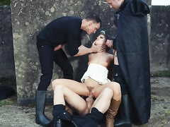 Skillful mom Adriana Chechik gives blowjobs while riding real cock