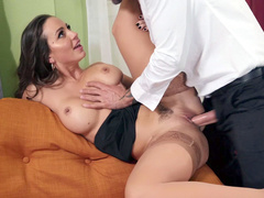 Sole purpose of meeting with man for big-boobied mom Abigail Mac is to be fucked