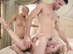 Stepmom Alexis Fawx helps Lena Paul reach orgasm in threesome with BF