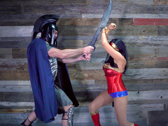 Wonder Woman Romi Rain also has XXX needs that her enemy has to satisfy