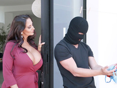 Mom with big hooters Ava Addams catches son smelling her underwear