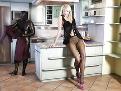 Extreme feminine domination! See her latex wearing slave!