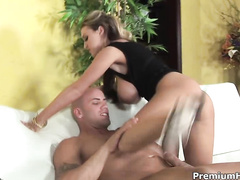 Busty pornstar gets nailed from behind
