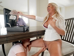 Fingering the pussy of hot milf real estate agent Janna Hicks