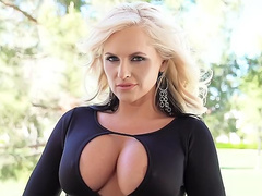 Remarkable mom Alena Croft loves demonstrating her juicy tits on cam