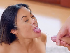 Anal sex ends for cheating wife Kaylani Lei with nice facial cumshot