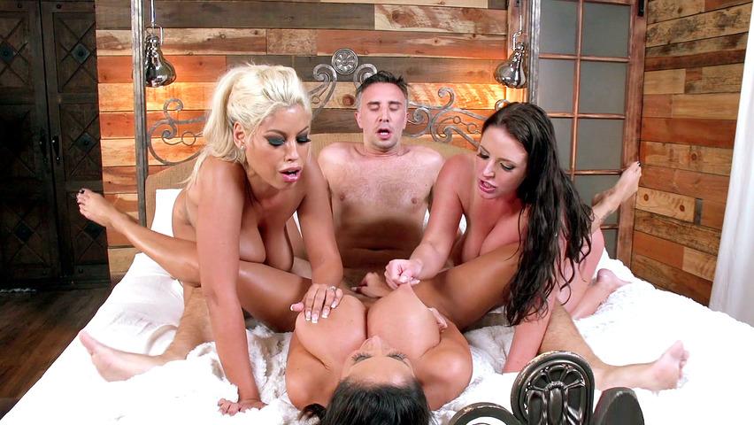 Angela White Oiled Threesome