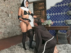Colombian nun Yudi Pineda prays for forgiveness before posing in the nude