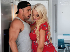 Horny mom Nicolette Shea craves for cock of husband's friend in mouth