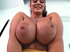 Sexy porn star Alison Tyler has an amazing pair of huge fake boobs