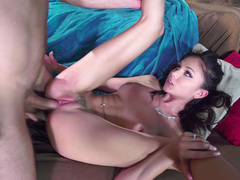 Brazzers porn video of daughter Ariana Marie where curly guy licks her feet