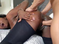 Ebony milf Osa Lovely gets slammed by Xander Corvus' hard cock