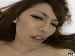 Risa Misaki is moaning while getting fucked harder than ever