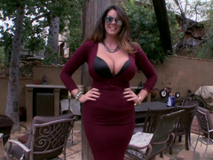 Alison Tyler Clothed huge natural tits and ass