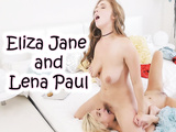 Lena Paul & Nataly - Gold Lesbian cheerleaders make special cookies