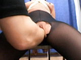 Dirty amateur brunette whore gets bound and fisted