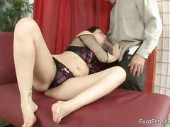 Horny brunette babe Esperanza takes big cock in ass
