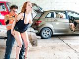 LETSDOEIT - Nympho Redhead Trades Sex For A Ride