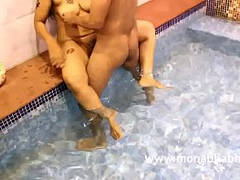 Mona Bhabhi Anal Sex Fucked In Swimming Pool By Her Husband