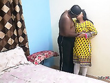 Indian college friend Shanaya aunty call at home and surprised fucked by her lover
