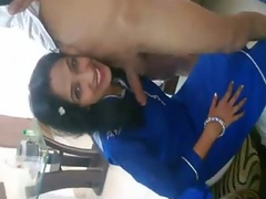 Wild Indian beauty gives a hot blowjob