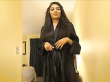 Nude Indian Babe In Black Sexy Nighty & Lingerie