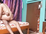 Mature Amateur Indian Wife Riding Hubby Thick Cock