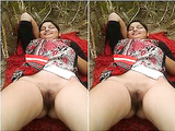 Today Exclusive- Desi Randi Bhabhi OutDoor Sex With 2 Guys