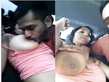 Desi NRI Boob sucking And Blowjob in Car