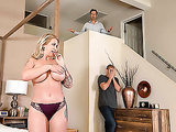 Mom Ryan Conner is sneaky and gets face fucked right beside husband
