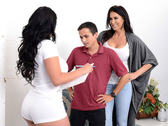 Mom Reagan Foxx tricks son Ricky Spanish, and he cums inside of her