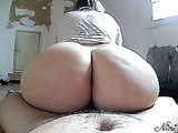 Mom's huge ass covered with XXX liquor after XXX riding and doggystyle