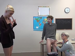 Teacher with short hair and glasses organizes after-school XXX club
