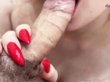 Sweet Blonde Sucks Big Dick And Rough Doggystyle Fuck To Cumshot In The Bathroom