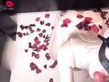 Beautiful Babe Sensual Fucks in Rose Petals On Valentine's Day