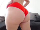 Would you like to fuck this girl with a big ass in red panties?