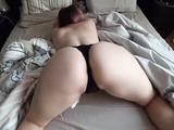 Big Ass Young Girl fucks through panties