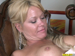 Booby mommy gets hardcore pounded through panties