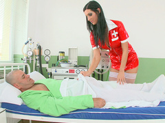 Hot nurse Cloe cures patient in her own fucking way