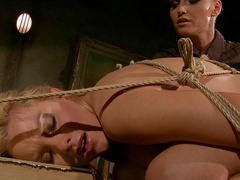 Horny babe Salome tortured hard by her mistress